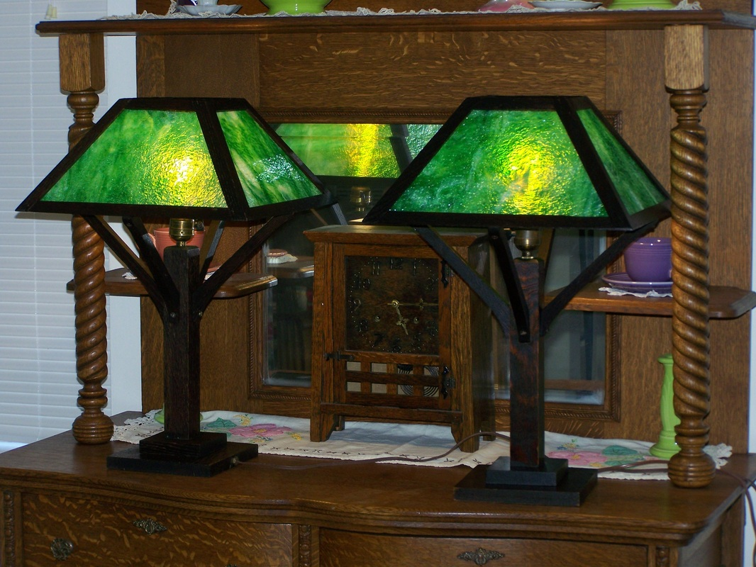 Arts U0026 Crafts Mission Oak Lamps   Weebly